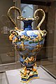 Vase with scene of Neptune and Amphitrite, Fontana family workshop, Italy, Urbino, c. 1560-1575, maiolica - Wadsworth Atheneum - Hartford, CT - DSC05036.jpg