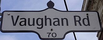 Vaughan Road - Image: Vaughan Road Sign Toronto
