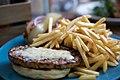 Veggie burger flickr user suthakamal creative commons.jpg