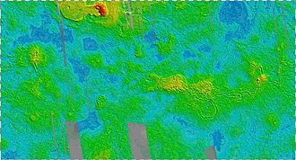 Mapping of Venus - Topographic Map of Venus