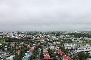 Hallgrímskirkja - Image: View from Hallgrímskirkja 11