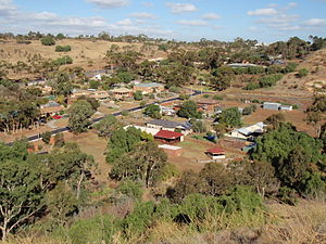 English: Part of the small town of Bulla, Vict...