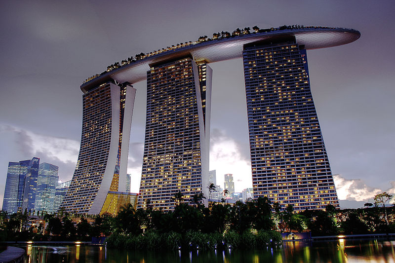 View of MBS from the gardens (8026531707).jpg