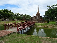 View of Wat Sa Si from the ordination hall island.jpg