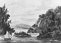 View on the Hudson River (Copy after Engraving by Weld and S. Springsguth in Weld, Travels Through the States of North America, 1807) MET ap42.95.48.jpg