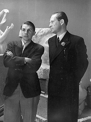 Viljo Revell - Viljo Revell (right) with Aarne Ervi in 1943