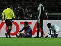 Villa lesionado en el Mundial de Clubes 2011.jpg