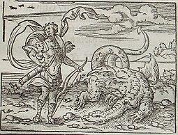 Огромный змей древнегреческие мифы