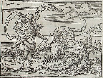 Apollo slaying Python