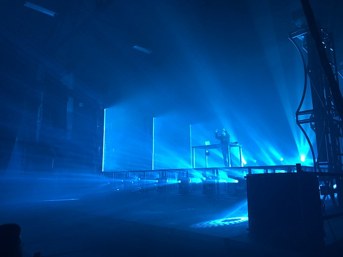 Robinson performing as Virtual Self in Brooklyn, New York on December 8, 2017