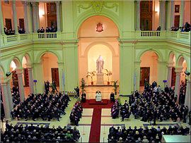 "Visit of Benedict XVI to the Pontifical Gregorian University, ""one of the greatest services the Society of Jesus carries out for the universal Church."""