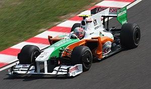 Force India - Vitantonio Liuzzi at the 2009 Japanese Grand Prix.