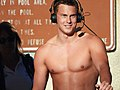 Vladimir Morozov, Trojan Swim Club, after winning 50-meter free (34348704764).jpg