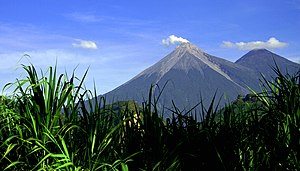 Acatenango - Volcán de Fuego (left) and Acatenango (right)