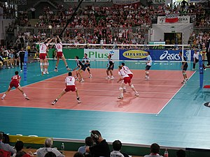 Poland men's national volleyball team - Poland vs Argentina at Łuczniczka, Bydgoszcz at the 2005 World League.