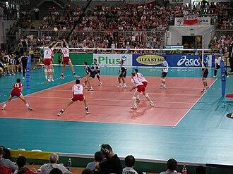 Poland men's national volleyball team - Poland vs Argentina at Łuczniczka, Bydgoszcz at the 2005 World League.