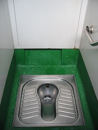 Public toilet - Public squat toilet in Hong Kong