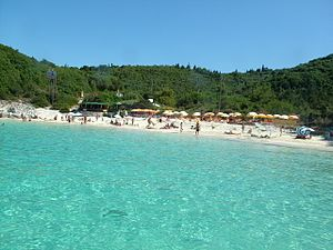 Antipaxos - View of Vrika Beach