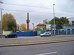 Vysočany, Kolbenova, komín továrny Praga (01).jpg