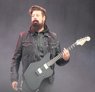 Jim Root - Root performing with band Stone Sour in 2013.