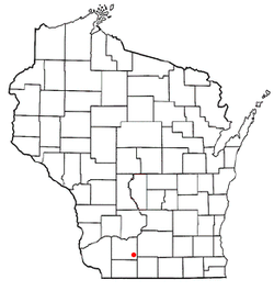 Location of Moscow, Wisconsin