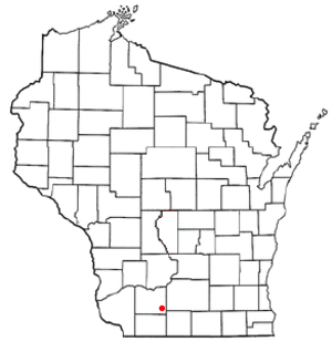 Moscow, Wisconsin - Image: WI Map doton Moscow