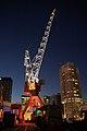 WLANL - Quistnix! - Havenmuseum - Figee walkraan (rood) bij nacht.jpg