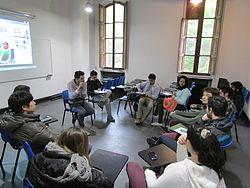 WM-CL Wikipedia en la Universidad III - Presentación en la FAU 04.JPG