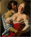 WOMAN EMBRACED BY A MAN, MODELLED BY THE YOUNG REMBRANDT.PNG