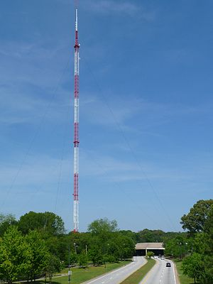 WSB-TV tower - WSB-TV tower, and structure protecting Freedom Parkway