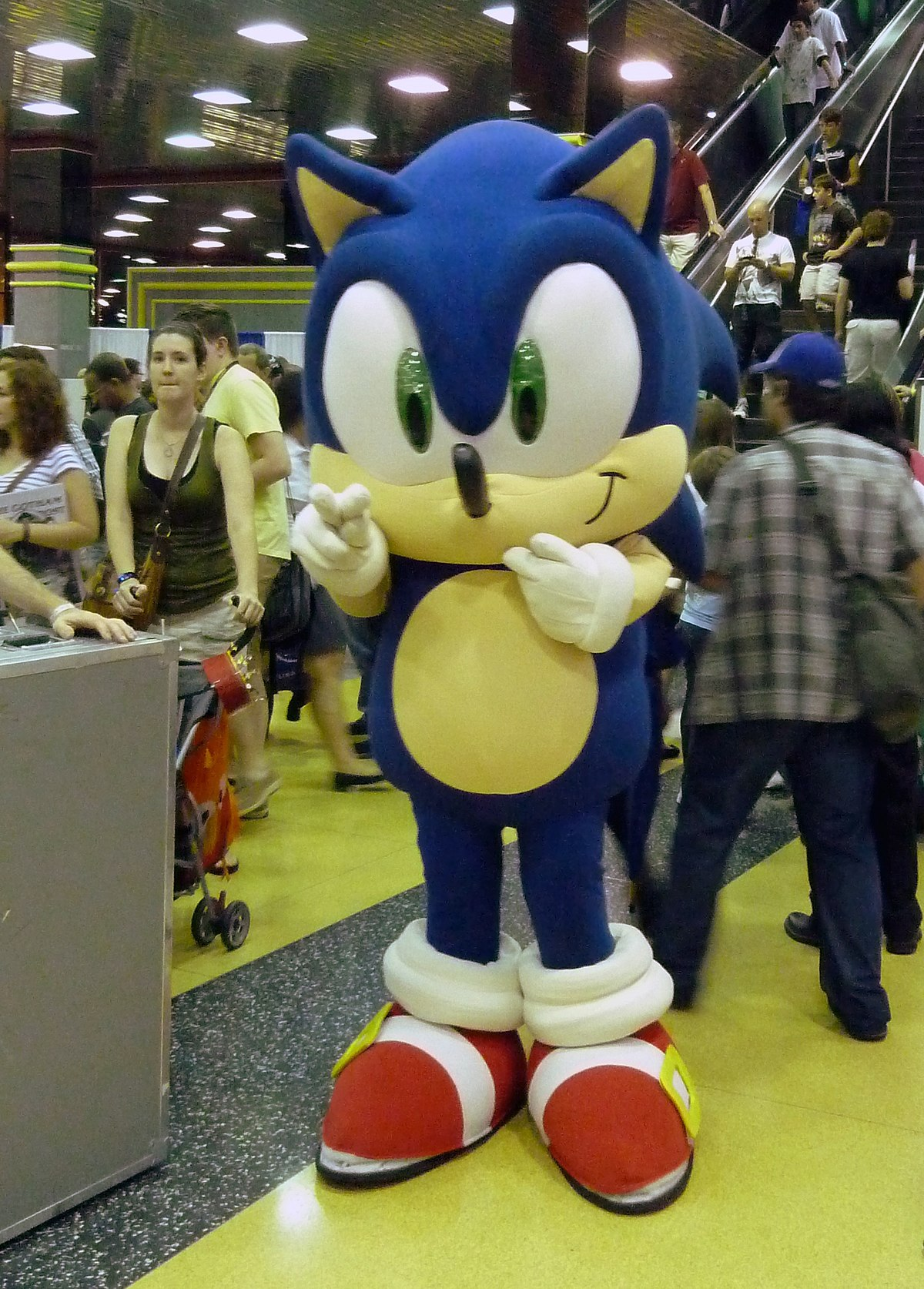 sonic hedgehog personaje 1991 imagenes wikipedia ww sega chicago wiki cosplayer world commons personajes team