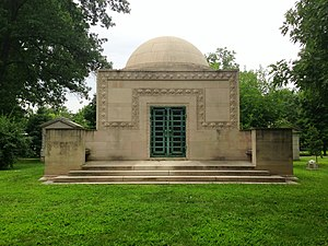 Bellefontaine Cemetery - The Wainwright Tomb at Bellefontaine Cemetery is listed on the National Register of Historic Places.