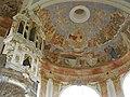 Waldsassen - Dreifaltigkeitskirche Kappl, Deckenfreske,.JPG