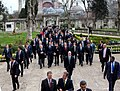 Walking with Turkish Prime Minister Recep Tayyip Erdogan from Hagia Sofia to the Blue Mosque in Istanbul, Turkey, April 7, 2009.jpg