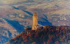 Wallace Monument - National Wallace Monument and Ochil Hills in autumn.