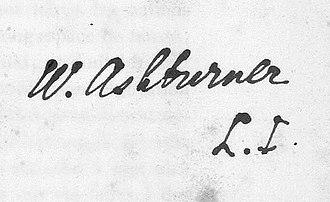 British Institute of Florence - Image: Walter Ashburner autografo