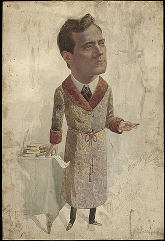 George Henry Bernasconi - A watercolour of the actor Walter Melville by Bernasconi, circa 1910.