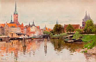 Trave - The Trave in Lübeck, by Walter Moras