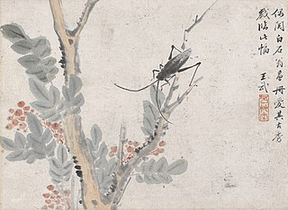 Insect and Tree after Shen Zhou
