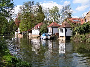 Ware, Hertfordshire - Image: Ware Gazebos from south bank of River Lea geograph.org.uk 302424