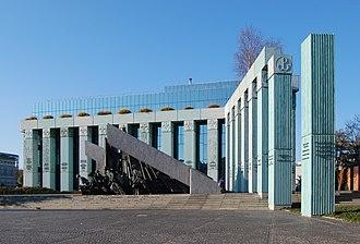Warsaw Uprising Monument - Warsaw Uprising Monument in Krasiński Square in Warsaw