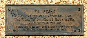 Washington meridians - Image: Washington Meridian Marker