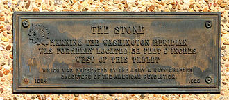 Washington meridians - Image: Washington Meridian Marker