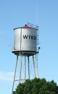 Wykoff water tower