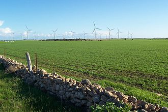Wind power in South Australia - Wattle Point wind farm near Edithburgh, South Australia.