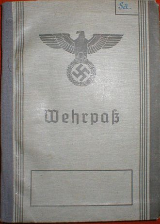 Wehrmacht - The cover of a Wehrpaß.
