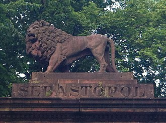 George Lang (builder) - Lion carved by Lang, Welsford-Parker Monument