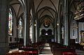 Werl, denkmalgeschützte Propsteikirche, Blick durch das Mittelschiff auf die Turmgeschosse.JPG