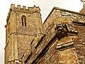West Monkton church (2021) gargoyle and tower.JPG