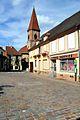 Wettolsheim, centre du village et clocher de l'église.jpg